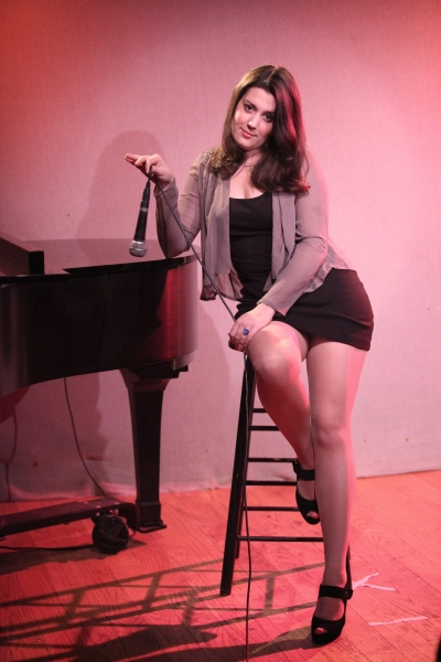 Katharine Luckinbill rehearsing for her new Cabaret Show LOVE (or there lack of) at Don't Tell Mama in New York City