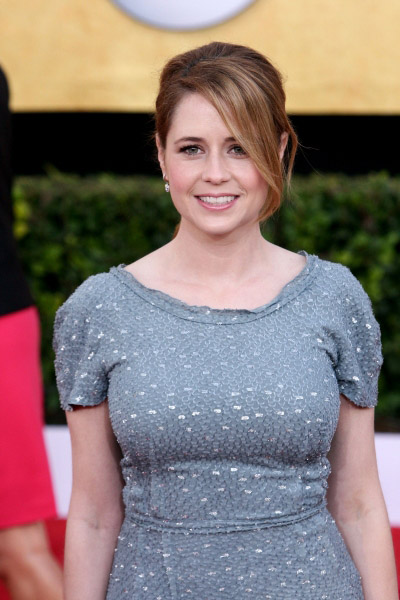Jenna Fischer pictured at the 17th Annual Screen Actors Guild Awards held at The Shrine Auditorium in Los Angeles, California on January 30, 2011.  �¿� RD / Orchon / Retna Digital. at 2011 SAG Awards Red Carpet!