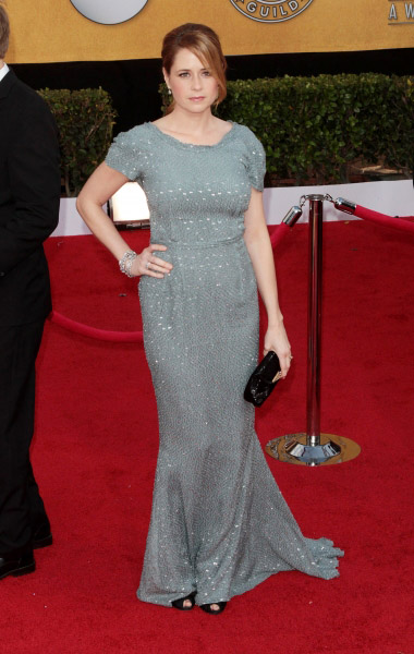 Jenna Fischer pictured at the 17th Annual Screen Actors Guild Awards held at The Shrine Auditorium in Los Angeles, California on January 30, 2011.  ï�¿½ RD / Orchon / Retna Digital. at 2011 SAG Awards Red Carpet!