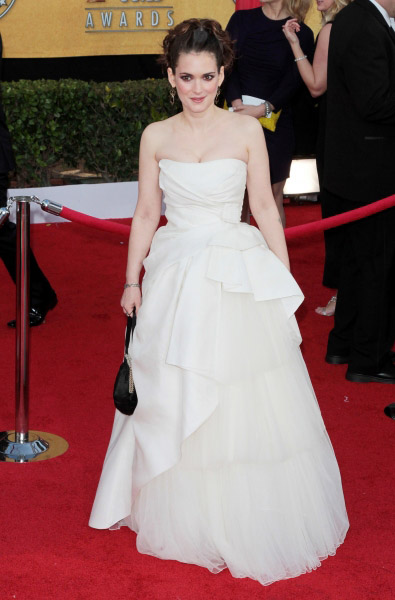 Winona Ryder pictured at the 17th Annual Screen Actors Guild Awards held at The Shrine Auditorium in Los Angeles, California on January 30, 2011.  � RD / Orchon / Retna Digital.