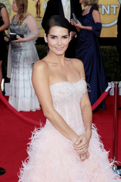 Angie Harmon pictured at the 17th Annual Screen Actors Guild Awards held at The Shrine Auditorium in Los Angeles, California on January 30, 2011.  � RD / Orchon / Retna Digital.
