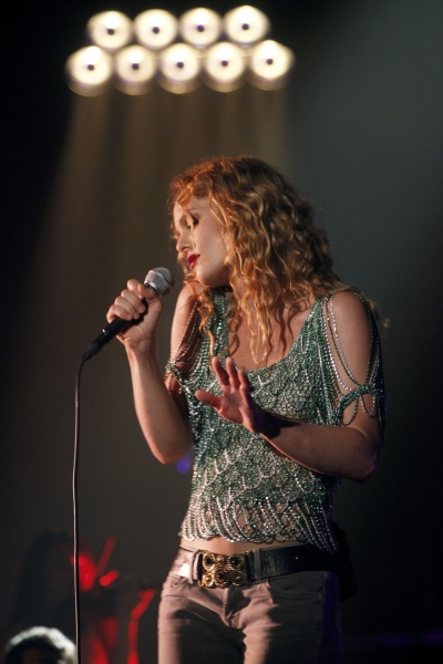 Singer VANESSA PARADIS performs live in concert at the Folies Bergere in Paris. (Credit Image:  Gassian/Panoramic/ZUMAPRESS.com)