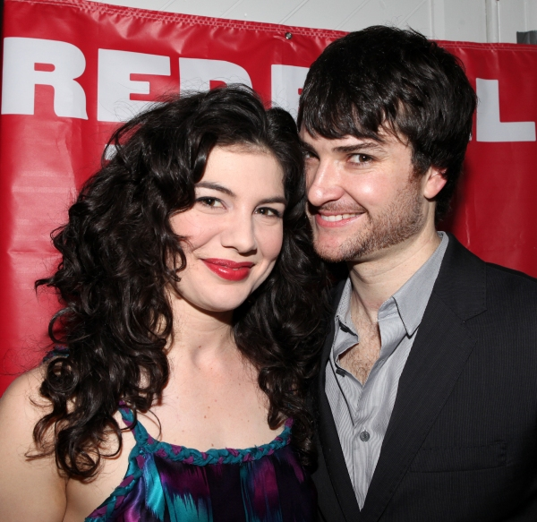 Christina Pumariega & Justin Blanchard attending the After Party for the Red Bull Theatre Revival of 'The Witch Of Edmonton' at Theatre at St. Clement's in New York City. at THE WITCH OF EDMONTON - After Party