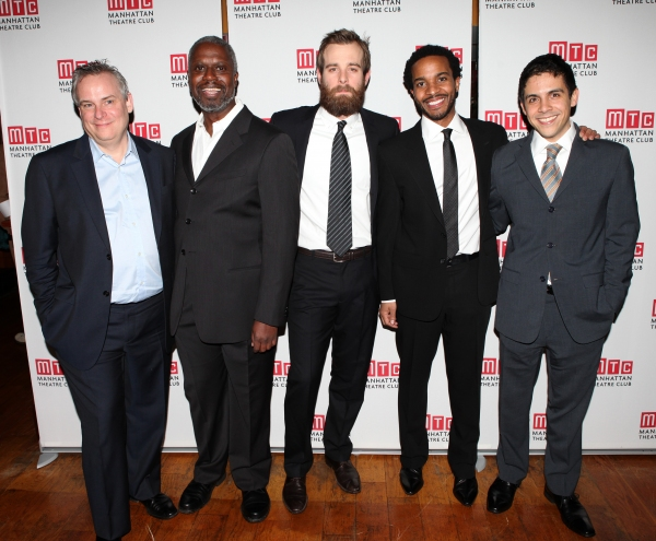Doug Hughes, Andre Braugher, Jay Wilkison, Andre Holland and Matthew Lopez attending the Manhattan Theatre Club's