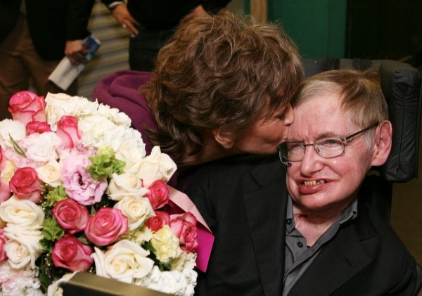 Jane Fonda and Stephen Hawking Photo