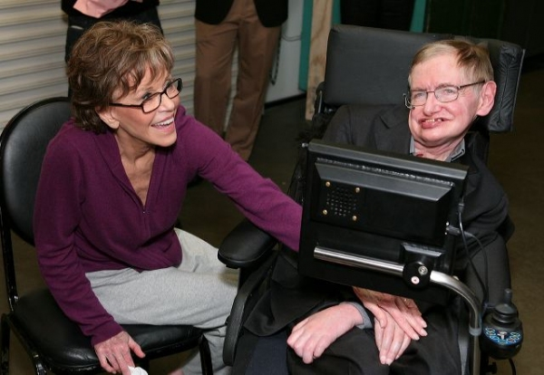 Photo Flash: Jane Fonda and Stephen Hawking Meet At 33 Variations