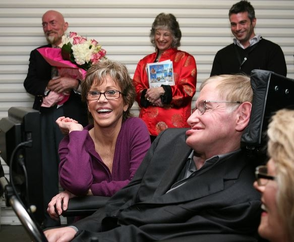 Jane Fonda and Stephen Hawking