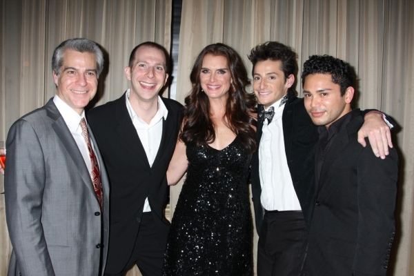 Mark Waldrop, Charlie Alterman, Brooke Shields, Frankie Grande and Isaac Calpito