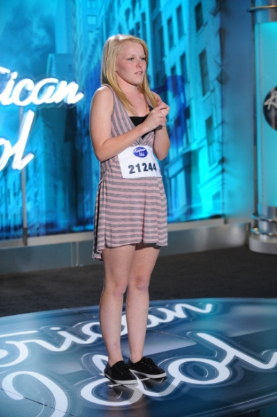 AMERICAN IDOL: AUSTIN: Hollie Cavanaugh, 17, McKinney, TX. performs in front of the judges on Wednesday, Feb. 2 on FOX. CR: Michael Becker / FOX.