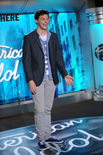 AMERICAN IDOL: AUSTIN: Nick Fink, 19, from Scottsdale, AZ. performs in front of the judges on Wednesday, Feb. 2 on FOX. CR: Michael Becker / FOX.