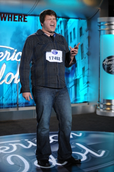 AMERICAN IDOL: AUSTIN: Caleb Johnson, 19 from Ashville, NC performs in front of the j Photo