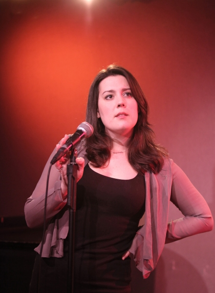 Katharine Luckinbill  rehearsing for her new Cabaret Show 'LOVE (or there lack of) at Don't Tell Mama in New York City