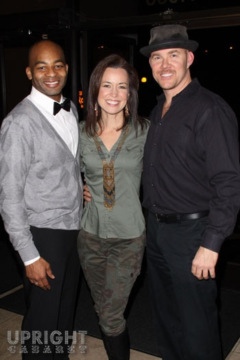 """Brandon Victor Dixon, Michelle Duffy and Todd Schroeder backstage at Upright Cabaret's """"Sweet Soul Music"""""""