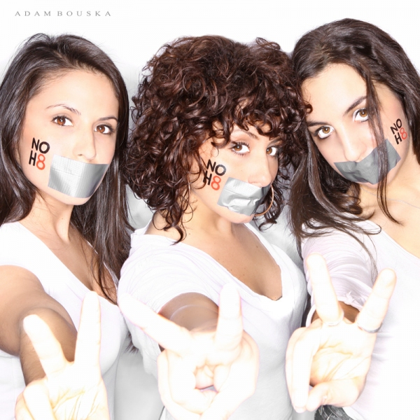 Erika Santillana, Michelle Aravena, Dea Julien at WEST SIDE STORY Tour Cast Supports NoH8 Campaign