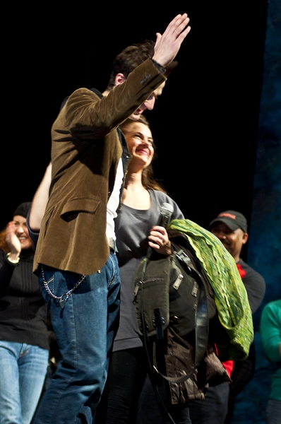Bryan Fenkart & Betsy Struxness at MEMPHIS Treats 1000 NYC Public School Student to First Broadway Show