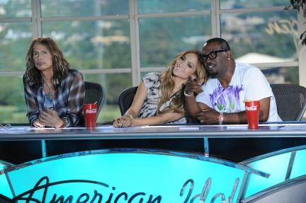 Steven Tyler, Jennifer Lopez and Randy Jackson at the Austin auditions of AMERICAN I Photo
