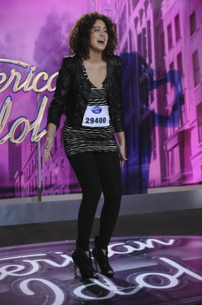 AMERICAN IDOL: Los Angeles: Karen Rodriguez, 21, from New York City performs in front Photo