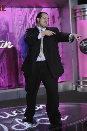 AMERICAN IDOL: Los Angeles: Matt Frankel, 27, West Hollywood, CA  performs in front of the judges on Thursday, Feb. 3 on FOX. CR: Michael Becker / FOX.