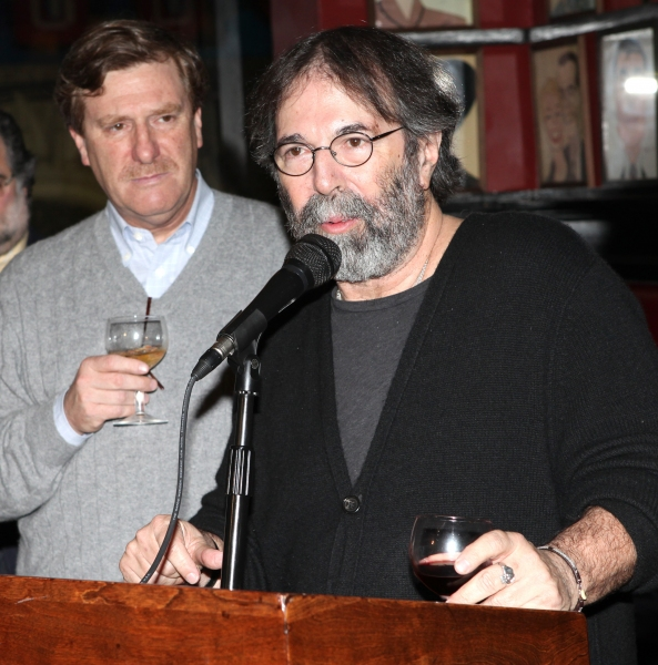Producer Jeremiah Harris & Producer Michael Cohl attending the 'Spider-Man Turn Off The Dark' Benefit for The Actors Fund at a Pre-Show Cocktail Reception held at Sardi's Restaurant in New York City