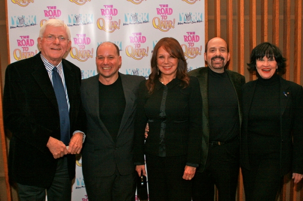 Phil Donahue, Stephen Cole, Marlo Thomas, David Krane, Chita Rivera at ROAD TO QATAR Celebrates Opening Night