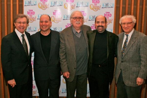 Maury Yestson, Stephen Cole, Tom Meehan, David Krane, Sheldon Harnick at ROAD TO QATAR Celebrates Opening Night