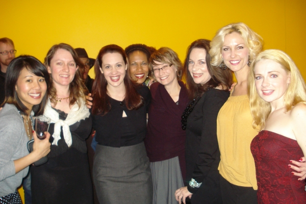 Melissa Canciller, Bordello Playwright Aline Lathrop, Dana Black, Kyra Morris, Bordello Director Meghan Beals McCarthy, Marguerite Hammersley, Katherine Keberlein and Joanne Dubach