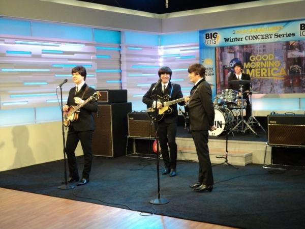 Joe Bithorn (George), Steve Landes (John), Joey Curatolo (Paul) and Joe Bologna (Ringo)