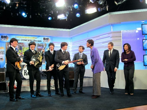Cast of RAIN with George Stephanopoulos, Robin Roberts, Sam Champion, Juju Chang