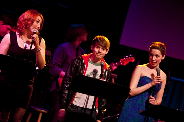 Katie Gassert, Andrew Keenana-Bolger and Jessica Hershberg at Ryan Scott Oliver Celebrates Songbook Release at Joe's Pub