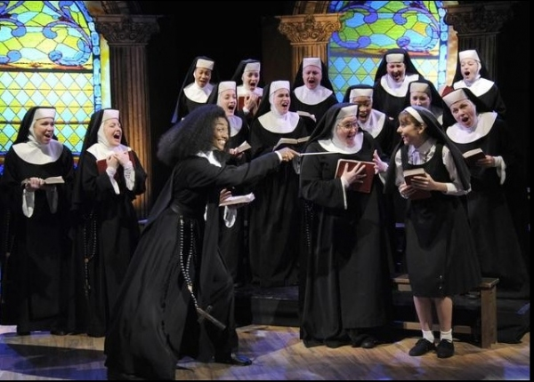 Patina Miller and the Company of SISTER ACT Photo