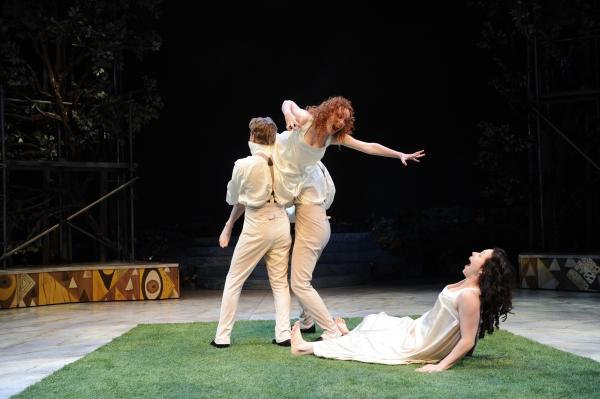 (L-R) Leigh Miller (Lysander), Caitlin Wise (Hermia), Drew Cortese (Demetrius) and Allison Pistorius (Helena)