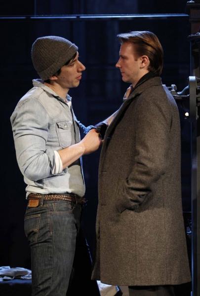 Adam Driver as 'Louis Ironson' and Bill Heck as 'Joe Pitt'