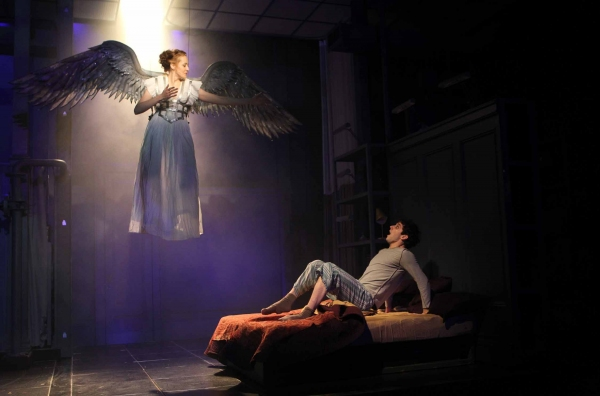 Sofia Jean Gomez as 'The Ange' and Michael Urie as 'Prior Walter'