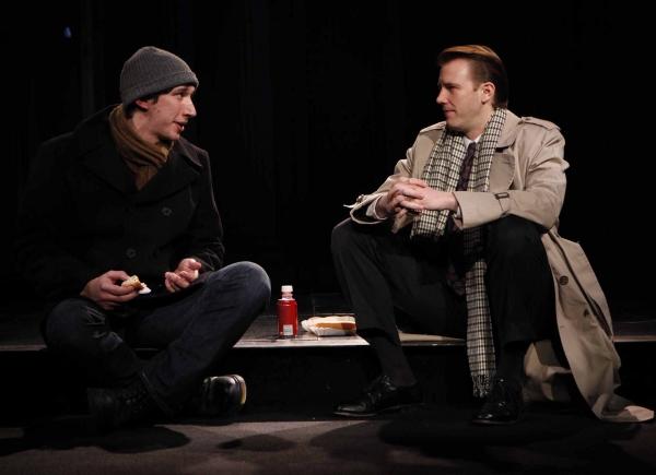 Adam Driver as 'Louis Ironson' and Bill Heck as 'Joet Pitt'