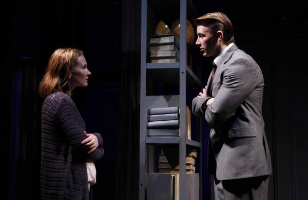 Keira Keeley as 'Harper Pitt' and Bill Heck as 'Joe Pitt'