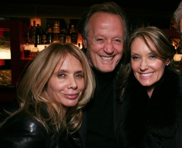 Rosanna Arquette, actor Peter Fonda and Parky DeVogelaere  at 33 VARIATIONS Celebrates Opening Night