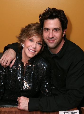 Jane Fonda (L) and son Troy Garity