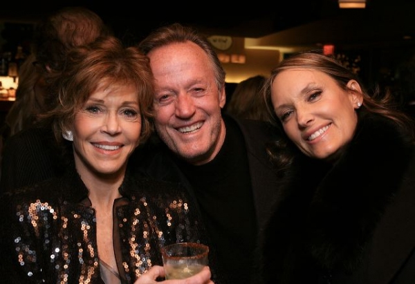 Jane Fonda, brother actor Peter Fonda and Parky DeVogelaere  at 33 VARIATIONS Celebrates Opening Night