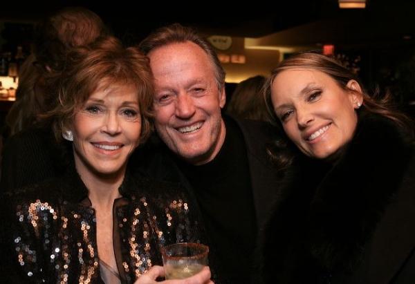 Jane Fonda, brother actor Peter Fonda and Parky DeVogelaere