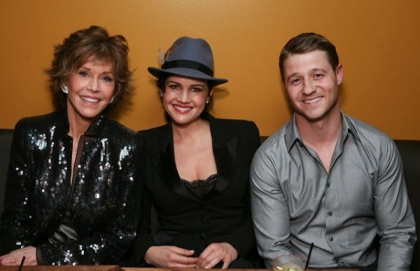 Jane Fonda, actress Carla Gugino and actor Ben McKenzie