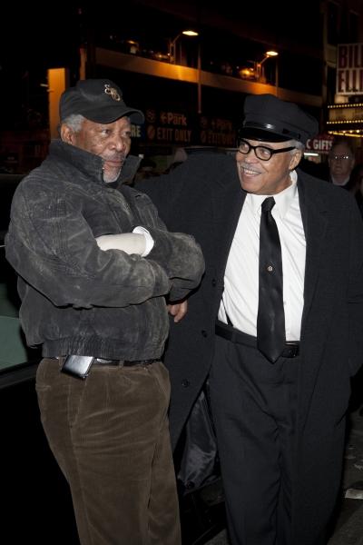 Morgan Freeman and James Earl Jones
