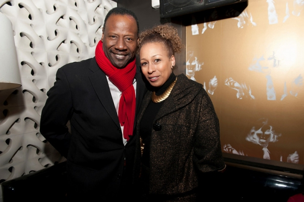 Gregory Generet & his wife Law & Order SVU star Tamara Tunie at ON EARTH TOGETHER Celebrates Opening
