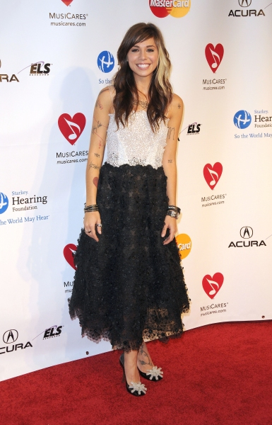 Christina Perri at the 2011 MusiCares Person of the Year Tribute to Barbra Streisand  Los Angeles Convention Center, West Hall, Los Angeles, CA, USA  February 11, 2011  © RD/ Scott Kirkland/ Retna Digital