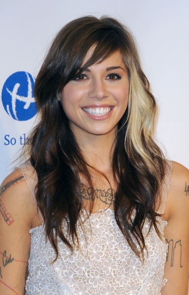 Christina Perri at Barbra Streisand MusiCares Starry Red Carpet!