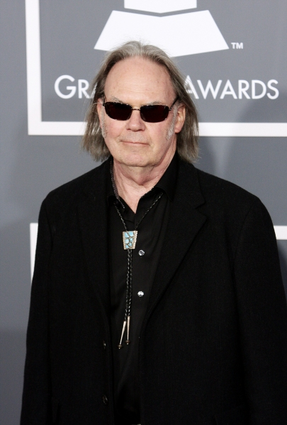 Neil Young pictured at The 53rd Annual GRAMMY Awards held at Staples Center in Los An Photo