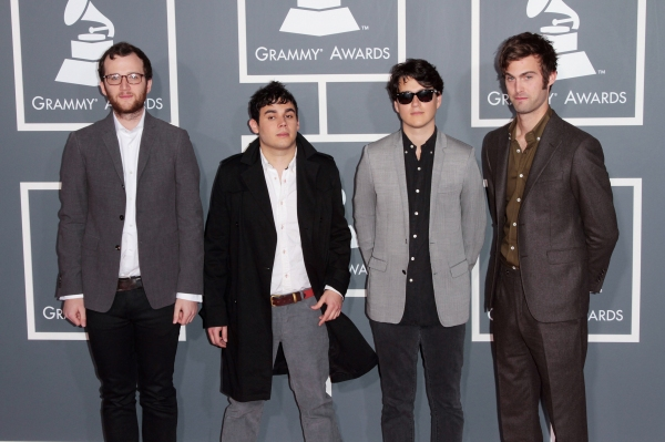 Musicians Chris Baio, Rostam Batmanglij, Ezra Koenig and Chris Tomson of the band Vampire Weekend pictured at The 53rd Annual GRAMMY Awards held at Staples Center in Los Angeles, California on February 13, 2011.  © RD / Orchon / Retna Digital.