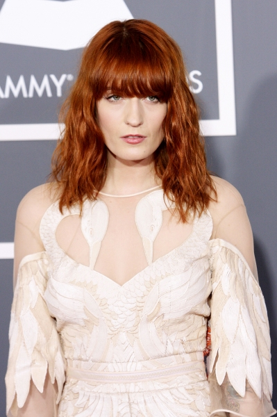 Florence Welch AKA Florence and the Machine pictured at The 53rd Annual GRAMMY Awards held at Staples Center in Los Angeles, California on February 13, 2011.  © RD / Orchon / Retna Digital.