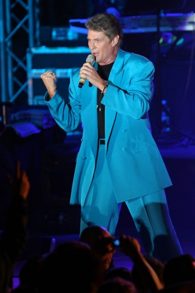 Singer DAVID HASSELHOFF at his concert in Frankfurt on the Main. (Credit Image: &#169 Photo