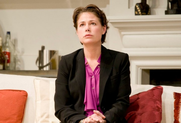 Maura Tierney at Maura Tierney, Owen Roe, et al. in GOD OF CARNAGE at Ireland's Gate Theatre