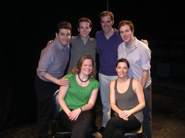Nathan Jansen, John Hartman, Brendan Dowling, Nick Semar; Front L to R Erica Elam, Amanda Blake Davis